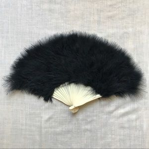 Vintage feather fan
